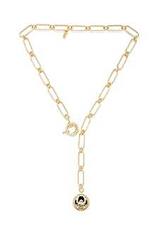Gold Plated Cancer Crab Necklace by Zariin