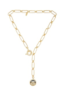 Gold Plated Gemini Twins Necklace by Zariin