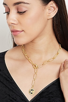 Gold Plated Taurus Bull Necklace by Zariin