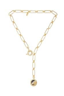 Gold Plated Aries Ram Necklace by Zariin