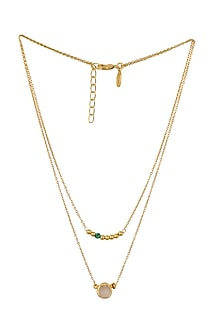 Gold Plated Taurus Birthstone Necklace by Zariin
