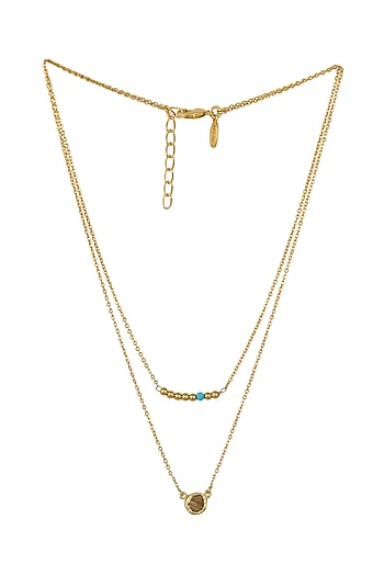 Gold Plated Gemini Birthstone Necklace by Zariin