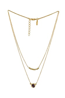 Gold Plated Virgo Birthstone Necklace by Zariin
