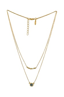 Gold Plated Capricorn Birthstone Necklace by Zariin