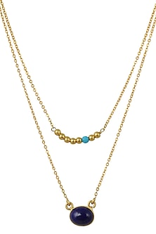 Gold Plated Aquarius Birthstone Necklace by Zariin