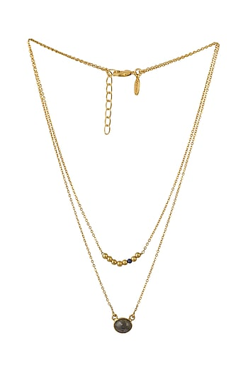 Gold Plated Pisces Birthstone Necklace by Zariin