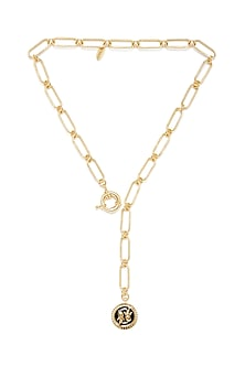 Gold Plated Pisces Fish Necklace by Zariin