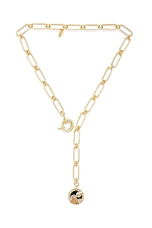 Gold Plated Aquarius Water Bearer Necklace by Zariin