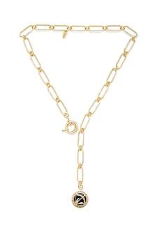 Gold Plated Sagittarius Archer Necklace by Zariin
