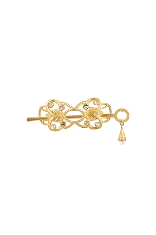 Gold Plated Hair Clip by Zariin