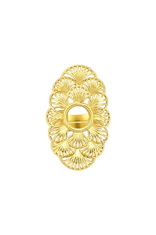 Gold Plated Double Finger Ring by Zariin