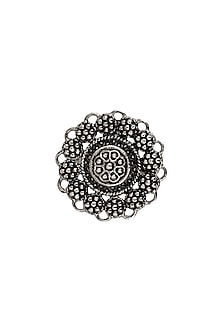 Black Rhodium Finish Age of Tribes Ring by Zariin