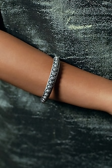 Black Rhodium Finish Bangle by Zariin