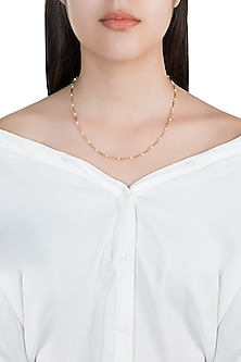 22Kt Gold Plated Pearls Necklace by Zariin