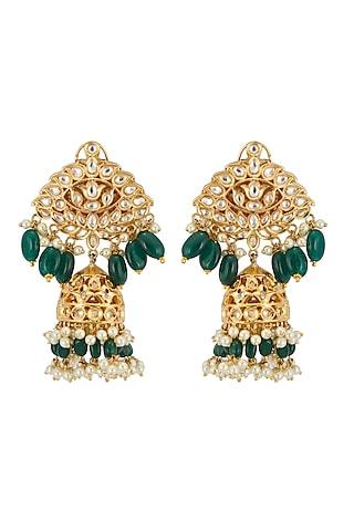 Gold Plated Mango Mala Necklace Set by Zevar By Geeta