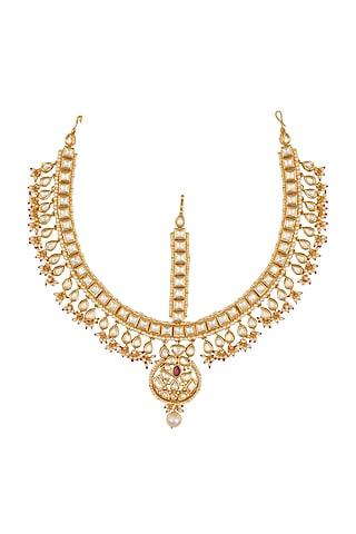 Gold Plated Bridal Matha Patti by Zevar By Geeta