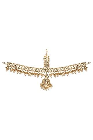 Gold Plated Kundan Matha Patti by Zevar By Geeta