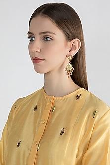 22Kt Gold Plated Moonga Earrings by Zevar by Geeta