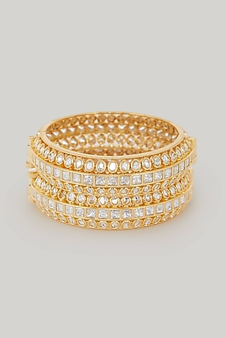 Gold Plated Bangles by Zevar By Geeta
