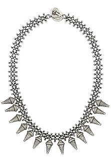 Sterling Silver Tribal Necklace by Zevar by Geeta