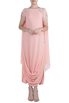Peach Embroidered Tunic by Zephyrr by G & M