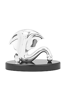 Silver Plated Neoteric Ganesha Idol by Shaze