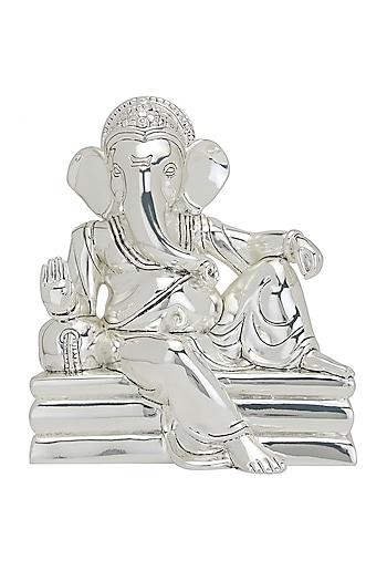 Silver Plated Regal Ganesha Idol by Shaze
