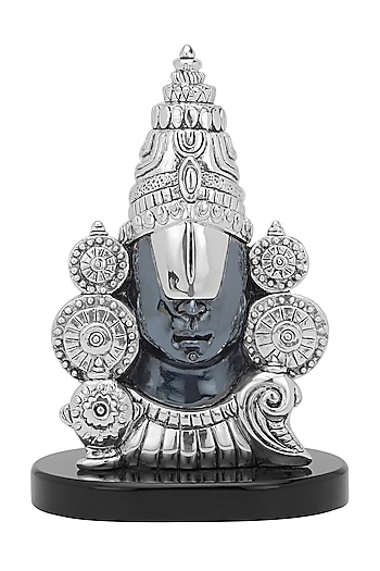 Silver Plated Balaji - Divine Dark Idol by Shaze
