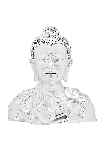 Silver Plated Buddha Idol by Shaze