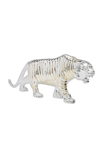 Gold & Silver Ribbed Tiger 13H by Shaze