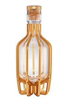 Glass Cage Decanter In Gold by Shaze