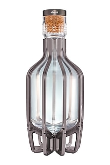 Glass Cage Decanter In Gunmetal by Shaze