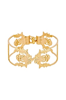 Gold Plated Les Tuileries Cuff by ZOHRA