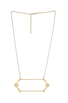 Gold Plated Charpente Necklace by ZOHRA