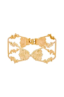 Gold Plated Charpente Cuff by ZOHRA