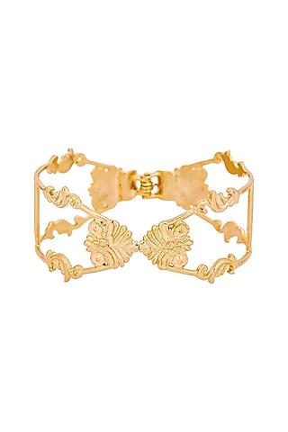 Gold Plated Charpente Cuff by ZOHRA