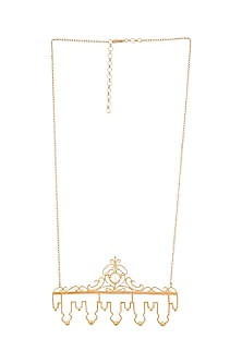 Gold Plated Laduree Necklace by ZOHRA