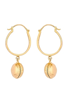 Gold Plated Celeste Macaron Earrings by ZOHRA