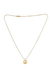 Gold Plated Celeste Macaron Necklace by ZOHRA