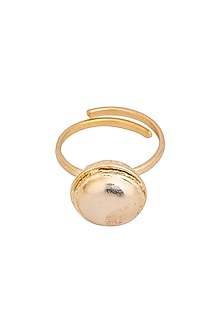 Gold Plated Celeste Macaron Ring by ZOHRA