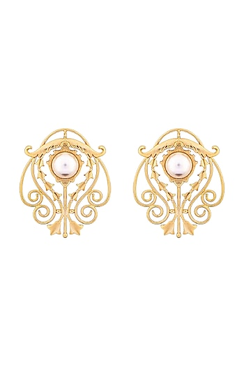 Gold Plated Jolie Earrings by ZOHRA