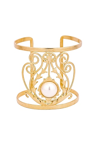 Gold Plated Jolie Cuff by ZOHRA
