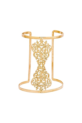 Gold Plated Marguerite Cuff by ZOHRA