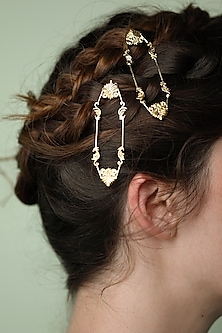 Gold Plated Charpente Hairclip by ZOHRA