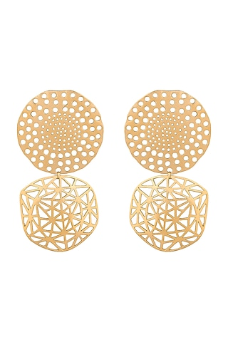 Gold Plated Handcrafted Earrings by Zohra