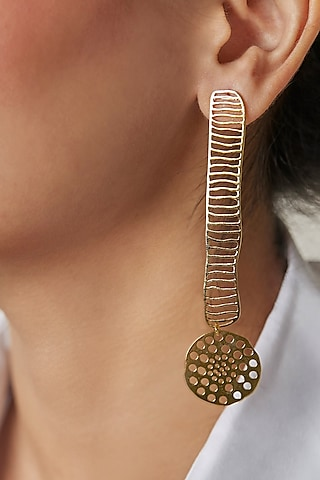 Gold Plated Earrings by Zohra