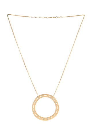 Matte Gold Plated Sven Necklace by Zohra