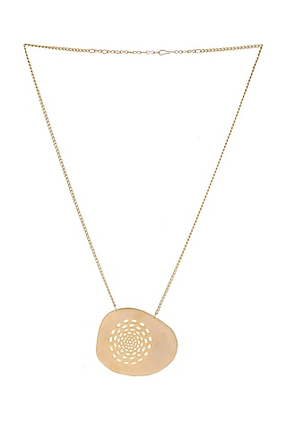 Matte Gold Plated Tove Necklace by Zohra