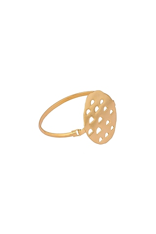 Matte Gold Plated Klara Bracelet by Zohra