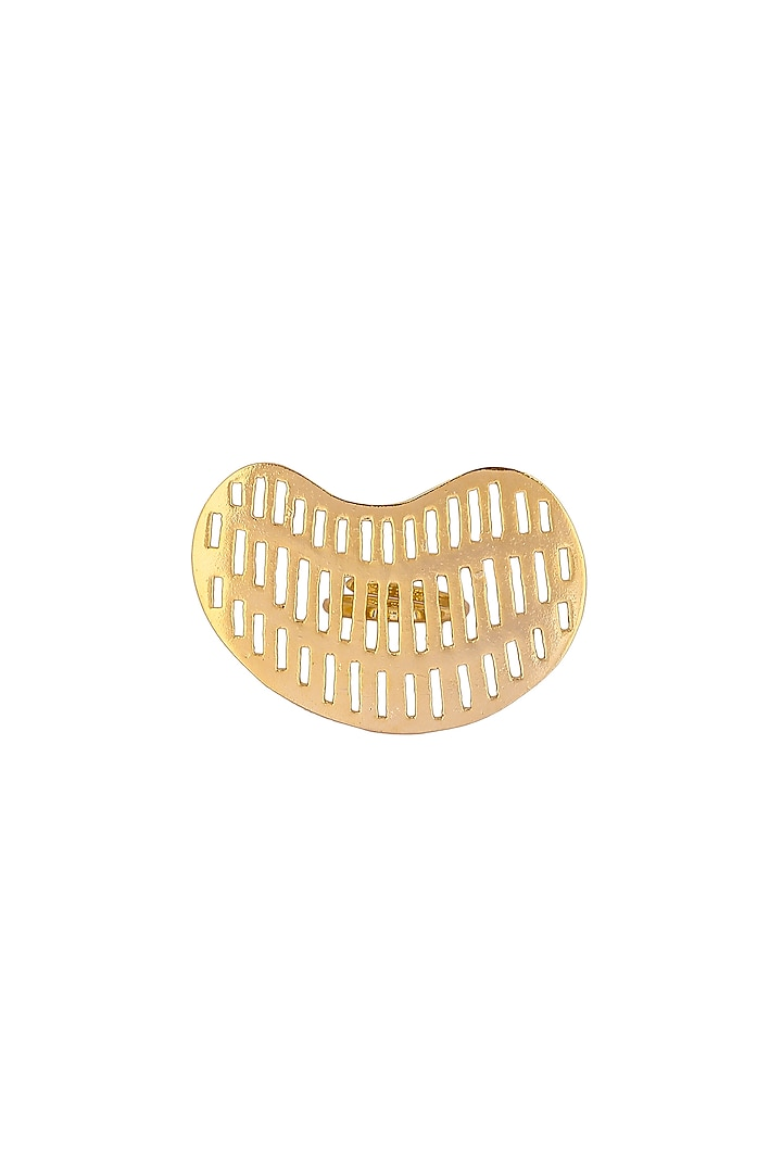 Matte Gold Plated Greta Ring by Zohra